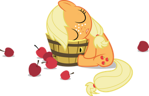 After a Hard Day of Applebucking by Drewdini