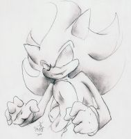 .: Dark Super Sonic :. by milesprower0