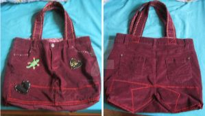 Jeans Bag (Finished) by HowlerTheEvilKitten1