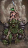 Ogres Male and Female by umbrafox