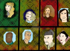 DH 3kingdoms cast photo credits Don Bluth style1 by Selinelle