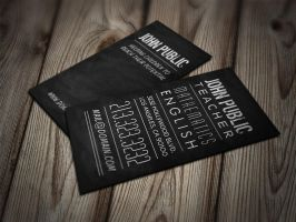 Teacher and Tutor Chalkboard Business Cards by es32