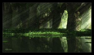 Narcissus Mirror by ArthurBlue