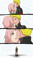 NaruSaku- Charming Forehead by AquariusDarkHeart