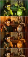 Mias in his study: Light studies by StressedJenny
