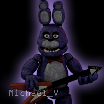 FNaF 1 Bonnie Model by Michael-V