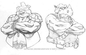 Bebop and Rocksteady by BenHarveyArt