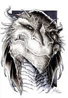 The Hobbit - Smaug Portrait by DanielGovar