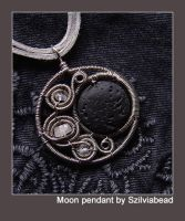 Crescent Moon pendant by bodaszilvia