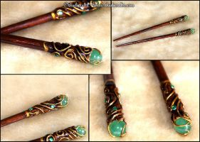 Druidic hairsticks by Skadi-r