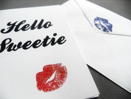 Hello Sweetie Card version 2 by WildeMoon