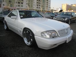Mercedes SL320 V6 white by sniperbytes