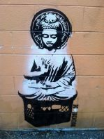 Street Buddha by RealKaBoomArt