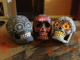 Day Of The Dead Skulls by JarrodJawless
