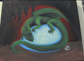 Dragon painting by HollieBollie