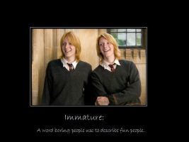 Fred and George: Immature by greenbug21