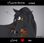Monsterhorses need Love too by Faejala