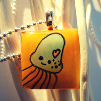 Jellyfish Pendant by cellsdividing