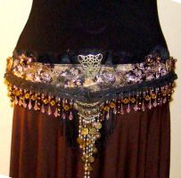Tribal Belly Dance Hip Belt by SteamSociety