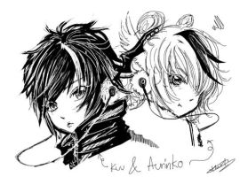 Kuu and Aurinko first sketch by KnotBerry
