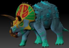 ZBrush Triceratops by DaBrandonSphere