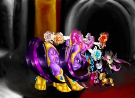Final ponies by noideasfornicknames