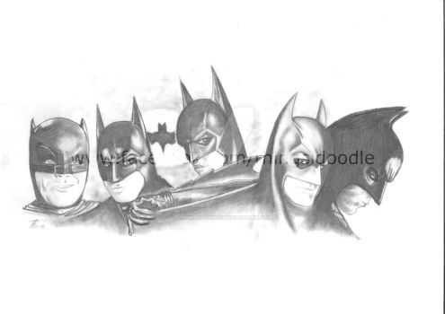 Batman ... through the ages by THINGSIDOODLE