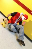 Trainer Red~ with Pikachu~ by RoXaSTG