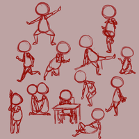 Chibi Poses by JeanaWei