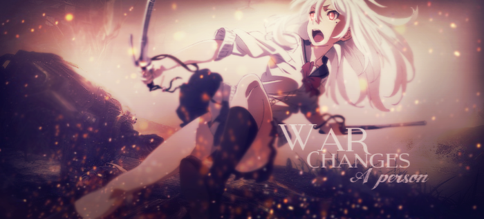 War changes a person by Saruichii