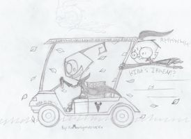 Kiba's New Golf Cart XD by XxMoonlightWolveXx