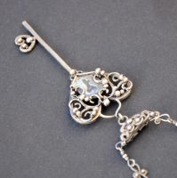 Key to Your Heart - Sterling Silver Pendant Chain by Eire-handmade