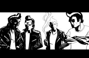Greasers Poster and Kickstarter Plea by SirGryphon