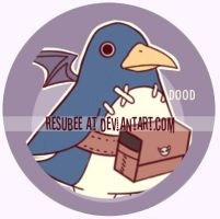 prinny button by resubee