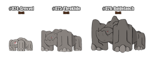 Fakemon Marble and Jade: #024-026 by Suicunesrider