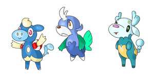 water starters by bellpup