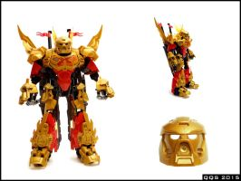 Tahu 70787 remake - golden mask! by QuQuS