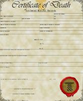 TORCHWOOD DEATH CERTIFICATE by CaptainJackHarkness