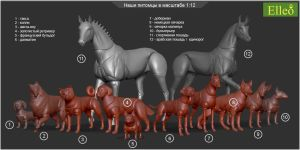 1-12 Bjd Animals by leo3dmodels
