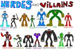 heroes and villains again by NickMaster64