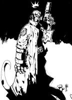 HellBoy on a Fairy Hill by StaindHand