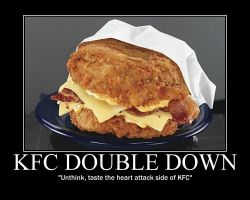 THE DOUBLE DOWN...Only at KFC by MegaUnicornGuy