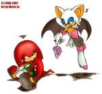 Knuckles versus Rouge by mree