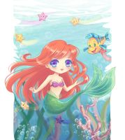 Chibi Little Mermaid by Nawal