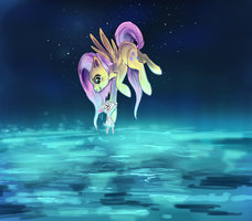 fluttershy and angel by Aluri