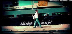 Lomo : is that u thought love? by eugeniaclara