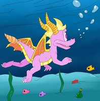 ( Spyro ) Swimming in Aquaria Towers Collab by KrazyKari