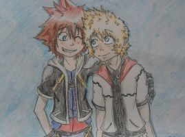 -Sora and Roxas- by Hukkis