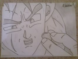 dragon ball z - I must save Trunks by Niruharu