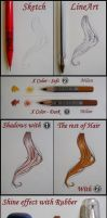 How to Paint the Hair -Tutorial- by RedStar-Sama